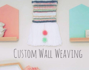 Custom Weaving | Woven Wall Hanging | Tapestry Weaving | Shag Weaving | Wall Art |