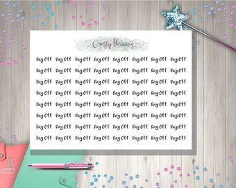 Day Off Text Word Planner Stickers