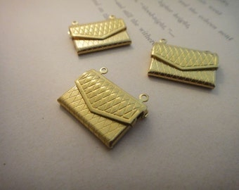 10Pcs Grid Envelope Locket Charms