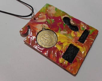 Creating French coin pendant