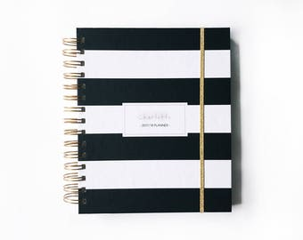 2017 planner | 2017 personalized planner | 2017 weekly planner | custom planner | 2017 daily planner |  planner | agenda