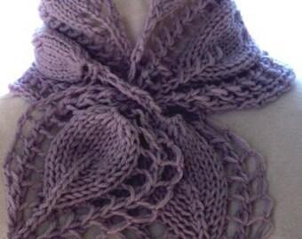 Scarf Knitting Pattern - Victorian Rose