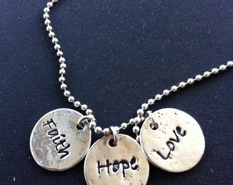 custom silver charm necklace