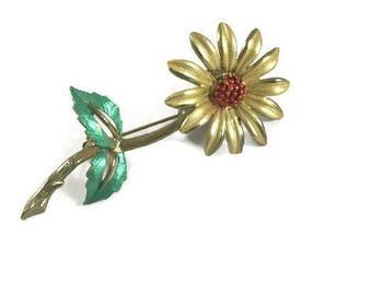 Vintage Daisy Trembler Brooch, Daisy Trembler Pin, Vintage Trembler Brooch, Floral Trembler, Vintage Daisy Brooch, Daisy Moving Brooch