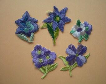 5 stick flowers, vintage-stick applications