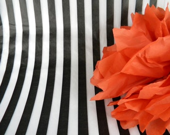 Black & White Wide Stripe Tissue Paper   Tissue Sheets Trending Weddings Print Tissue Paper   Gift Wrap Store Packaging   Wrapping paper