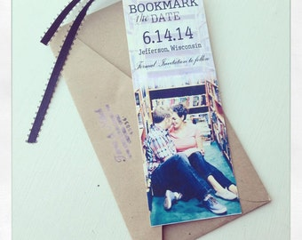 Save the Date Bookmark (Includes ribbon)