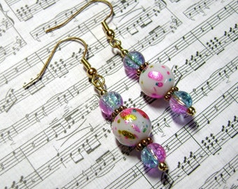 Picasso Earrings - Cotton Candy Jewelry - Dangle Earring - E137