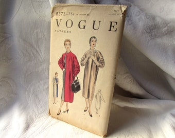 1954 Vogue Coat Pattern Number 8373 Womens Miss Size 16