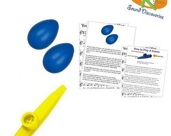 Mommy & Me Learn to Play Educational Music Pack - Rhythm Shakers/Kazoo (A Tisket A Tasket) #RSDMMBSY14