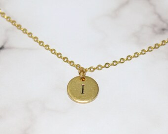 Custom Initial Necklace, gold plated initial necklace, Bride gift, Bridal party gift, wedding gift, Mother of the bride/groom gift