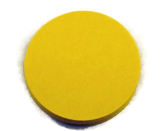 Two Inch Die Cut Paper Circles  2 inch Circles in  Sunny Yellow Quantity of 50