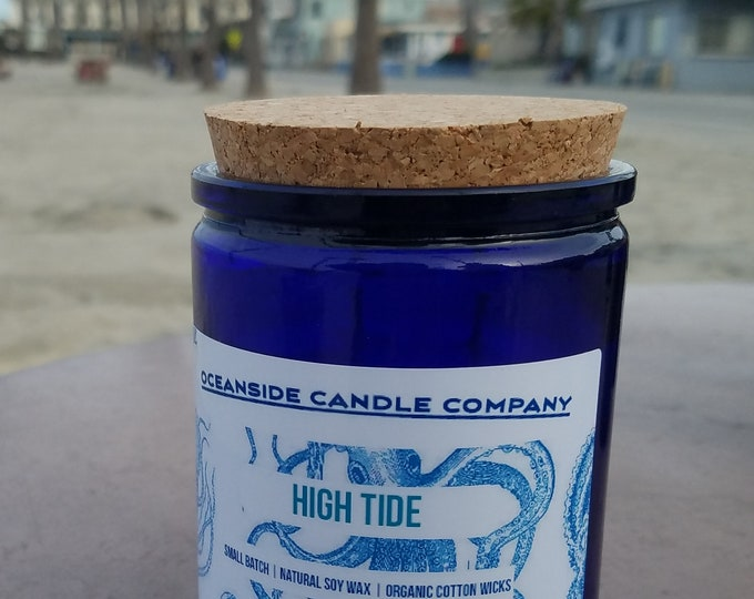 High Tide - 12 oz Blue Jar - Soy Candle