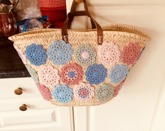 Colourfull handmade crochet Ibiza style bags