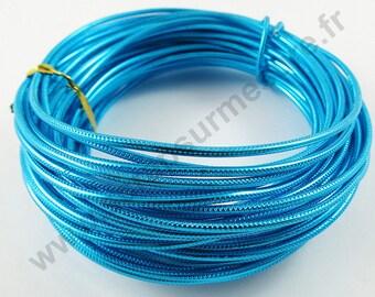 Aluminum wire Ø 2 mm - TURQUOISE - x 1 m