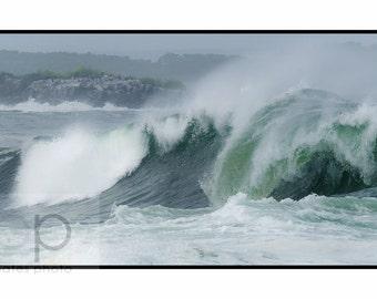 "Ocean Waves Photography, ""East Point, Biddeford Pool""  fine Art Print"