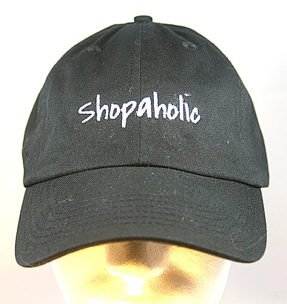 Shopaholic (Polo Style Ball Black with White Stitching)