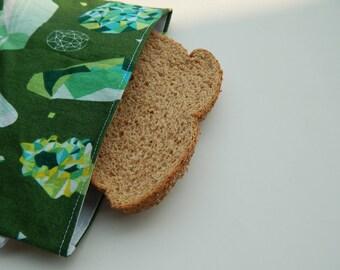 Green Crystals Sandwich Bag/Reusable Sandwich Bag