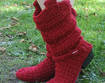 Crochet Boots Pattern-------INCREDIBLE------Slouch COWBOY BOOTS----with buckle-----Uses a Real Cowboy Boot Sole