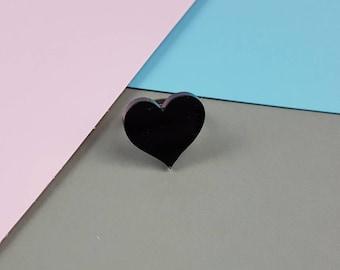 Black Heart statement ring
