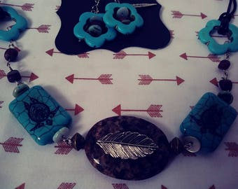 Native Necklace Set with Earrings