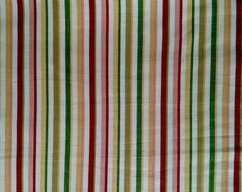 "Mill Creek Multi-Color Stripe  Home Decorator Fabric  2 Yards x 54"""