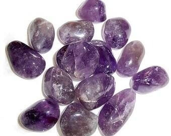 Amethyst Tumbled or Rough Gemstone Crystal - Protection Reiki