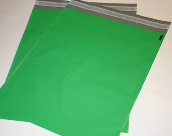 20  14x17 Poly Mailers Green Self Sealing Envelopes Shipping Bags Spring Easter Christmas