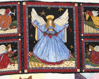 "Flying Angels Panel - Timeless Treasures -  100% Quilt Shop Quality 23"" x 44"""