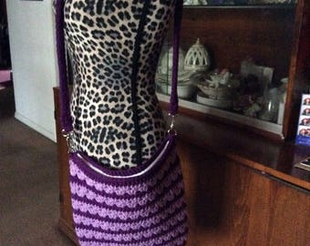 Crochet crossbody purse