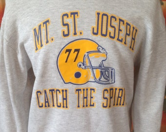 Vintage Mt. St. Joseph football sweatshirt USA.