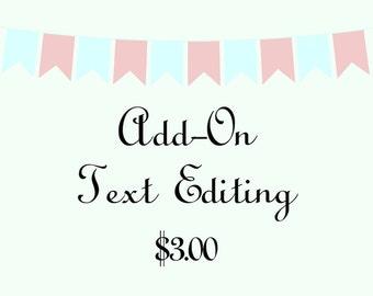 Add-On Text Editing