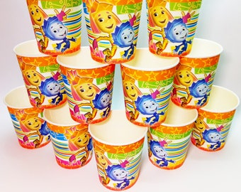 The Fixies paper cups 10 pcs. Paper cups for children's holiday, birthday or party. Fixies party. The Fixies paper cups.