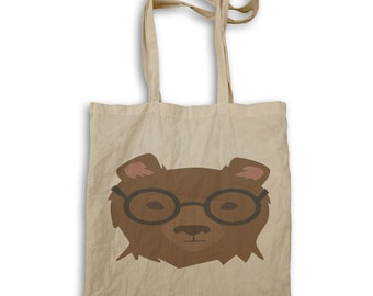 Hipster bear Tote bag w126r