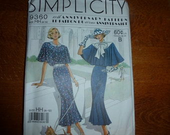 VINTAGE Simplicity Womens Dress Pattern 9360 Size 6-12  Uncut  60 YEAR  Anniversary Edition