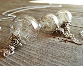 Dandelion- Set 925 Silver/ Genuine Dandelions