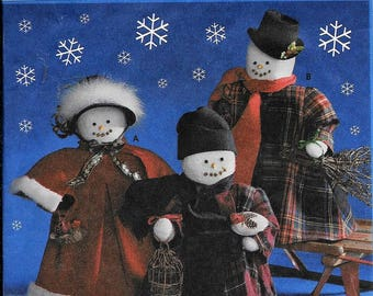 "Simplicity 9265 Snowmen 18"" Snow Family & Clothes Christmas Sewing Pattern UNCUT"