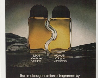 1980 Advertisement Jovan Man Woman 80s Women Mens Fragrance Cologne Bottles Fitted Cologne After Shave Scent Perfume Wall Art Decor