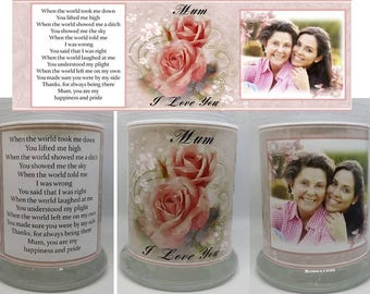 Customised photo candle for Birthday, Friendship or Family