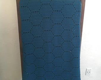 Hexagon Honeycomb Crochet Blanket