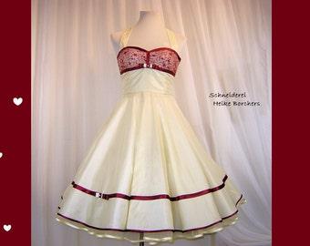 weddingdress,bridaldress,rockabilly wedding,petticoat wedding,50s bridalgown,white weddingdress,creme weddingdress