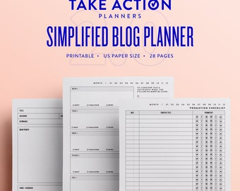 Simplified Blog Planner 2.0 / US Printable
