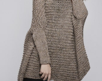 OVERSIZED Woman sweater/ Knit sweater in Mocha