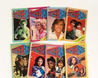 SALE Vintage 1970s Childrens Magazines, Set of 8 SuperMag Magazines 1977, Star Wars Wonder Woman Laverne Shirley Hulk OJ TV Movie Stars Stat