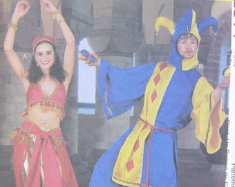 McCalls Belly Dancer Jester Costume Pattern 2814