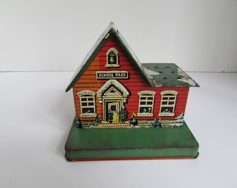 Vintage School P.S. 23 Bank Made By U.S. Metal Toy Mfg. Co.