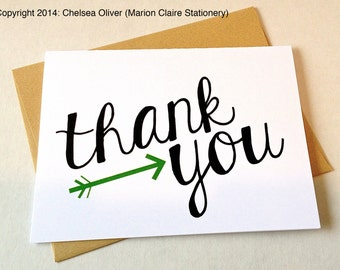 Thank You Card - Arrow