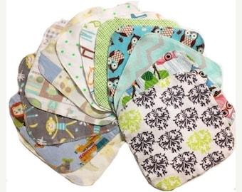 Memorial Day Sale Sale - Geheimnis Set - 8 x 8 süße Spulen Tuch Tücher Starterset von 12 Tücher - Double Layer Flanell - 8 x 8
