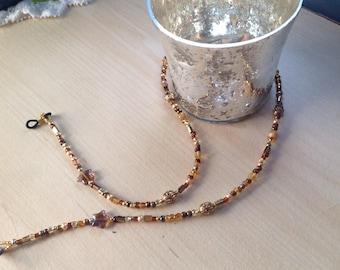 Women's Gold Eyeglass Lanyard    Free Shipping!
