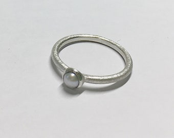 Ring Freshwater pearl stacking, Beisteckring, engagement ring
